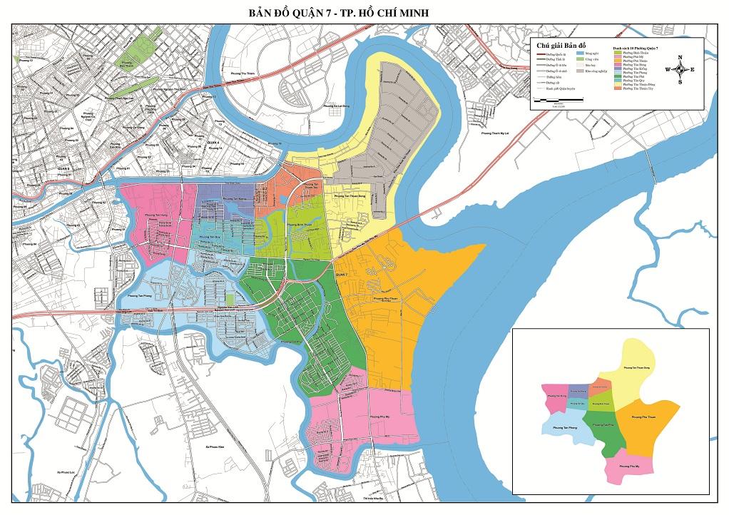 Bản Đồ Quận 7 Thành Phố Hồ Chí Minh