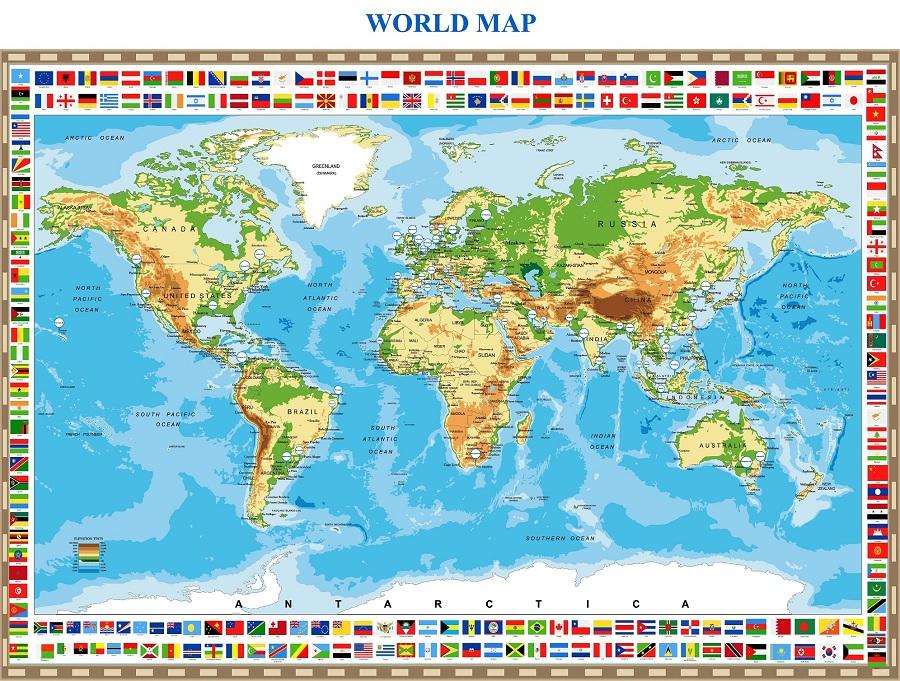 Bản Đồ Cảng Biển Thế Giới Khổ Lớn