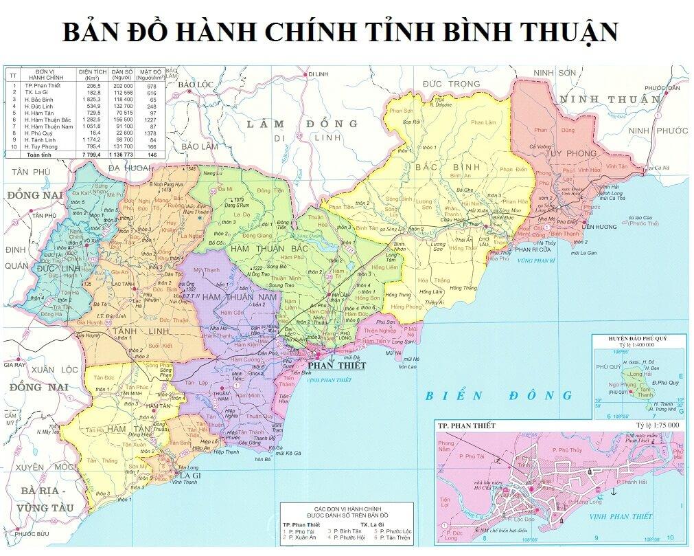 Ban do tinh Binh Thuan