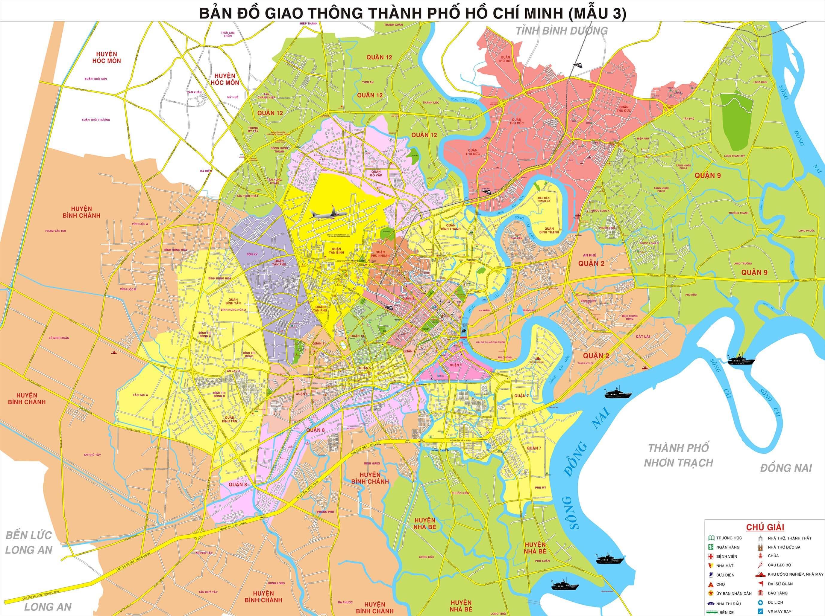 Bản Đồ Thành Phố Hồ Chí Minh Về Đường Xá