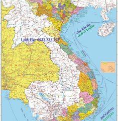 Bản Đồ Việt Nam Lào Campuchia Khổ Lớn