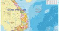 Bản Đồ Việt Nam Tiếng Anh Khổ Lớn