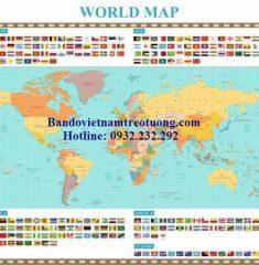 Bản đồ thế giới khổ lớn mẫu 34