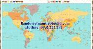 Bản đồ thế giới khổ lớn mẫu 35