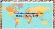 Bản đồ thế giới khổ lớn mẫu 37