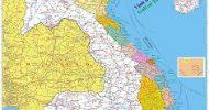 Bản đồ Việt Nam – Lào – Campuchia khổ lớn