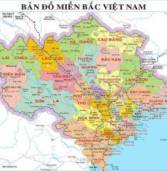 Bản đồ miền Bắc Việt Nam khổ lớn
