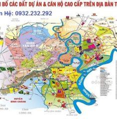 Bản đồ quy hoạch tổng thể các dự án trong địa bàn thành phố