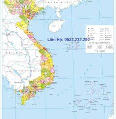 Bản Đồ Việt Nam Khổ Lớn ( Mẫu 02 )