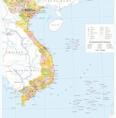 Bản Đồ Việt Nam Khổ Lớn ( Mẫu 05 )